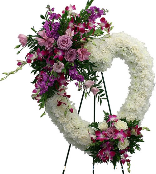 heart wearth vietnam funeral flowers