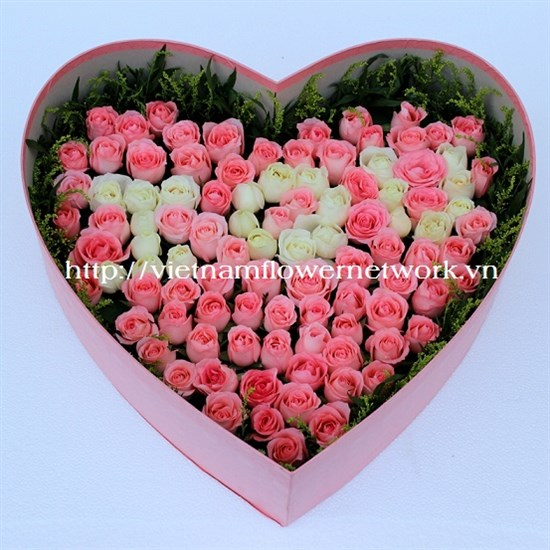 Beautiful valentines day flower delivery to vietnam