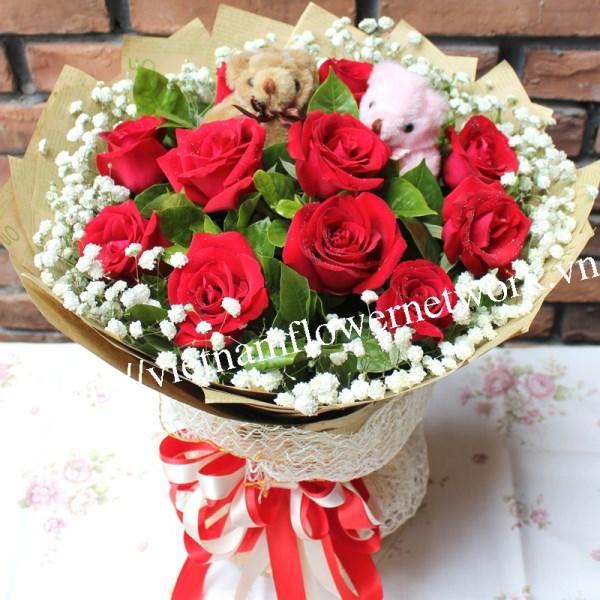 beautiful valentines day flowers in Vietnam